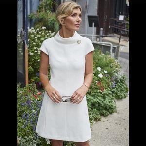 Harper Rose Stand Collar A Line Ivory White Dress